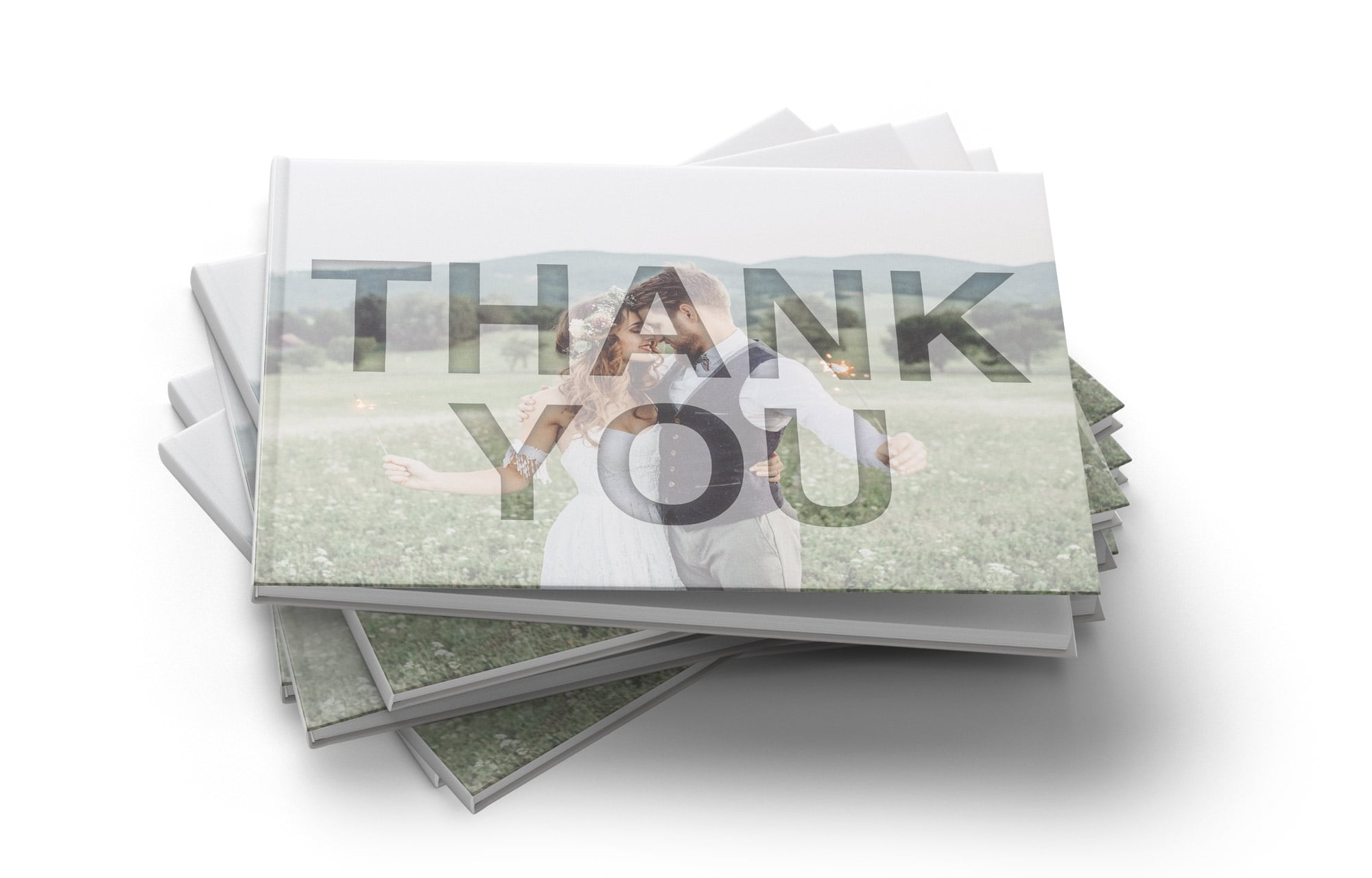 Thank you book for wedding couples